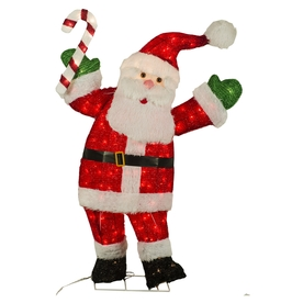... Living 4-ft Santa Lighted Outdoor Christmas Decoration at Lowes.com