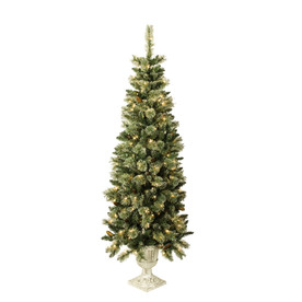 Holiday Living 6.5-ft Pre-Lit Pine Artificial Christmas Tree with White Lights