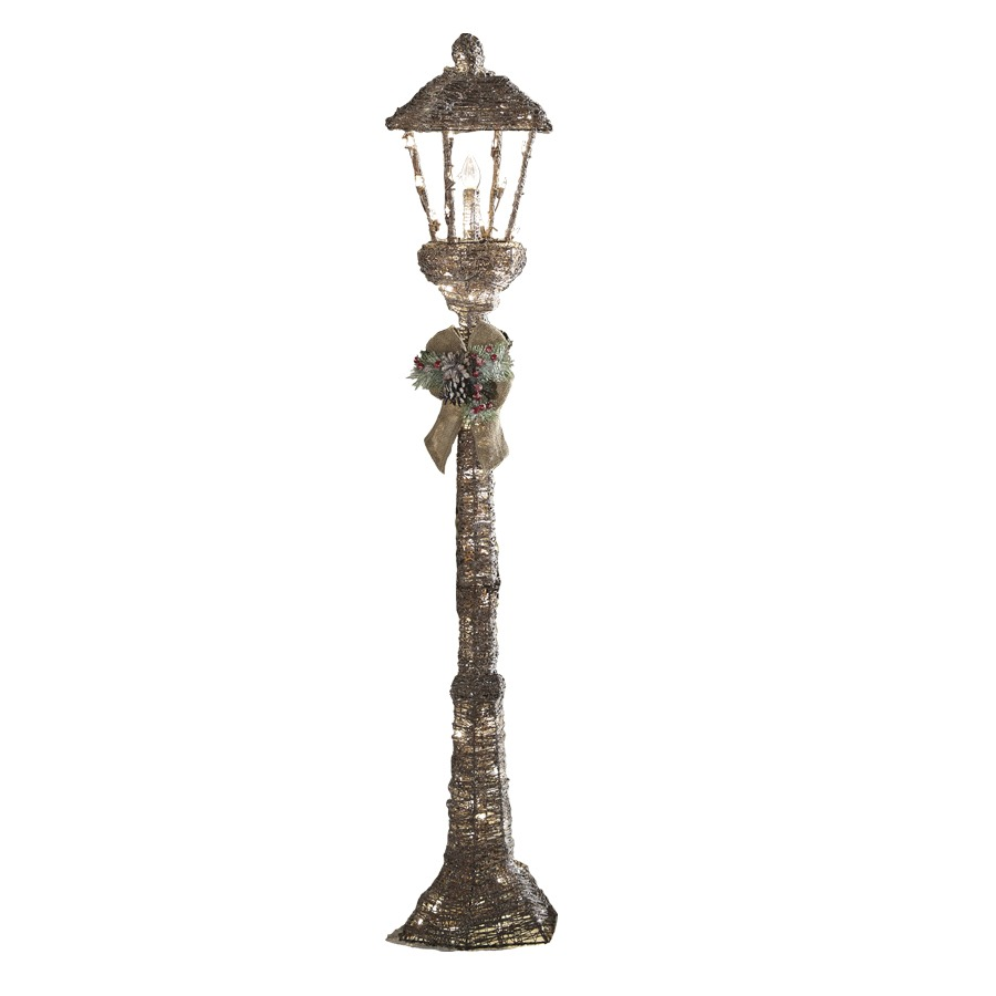 shop holiday living 5 ft lamp post outdoor christmas