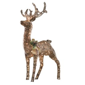 Shop holiday living 4 3 ft lighted deer outdoor christmas for Home hardware outdoor christmas decorations