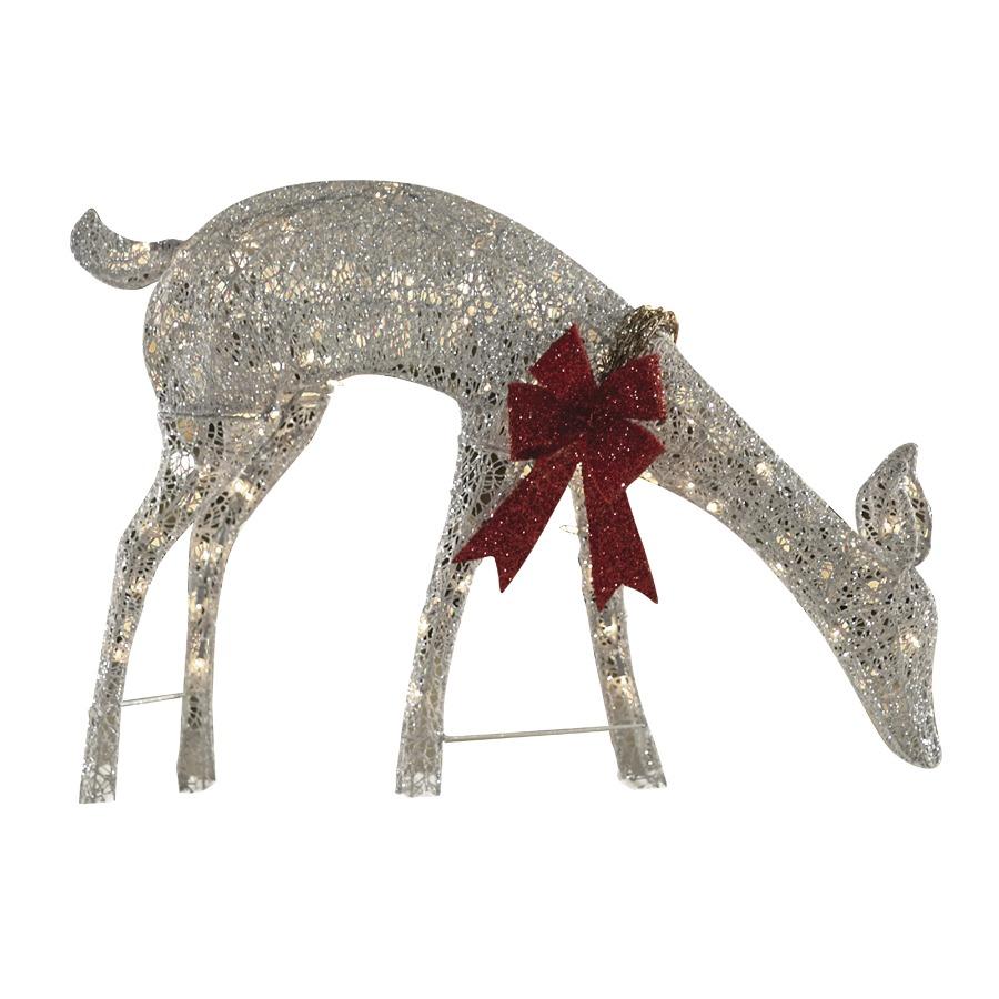 Shop holiday living 1 piece 2 1 ft deer outdoor christmas for Christmas deer outdoor decorations