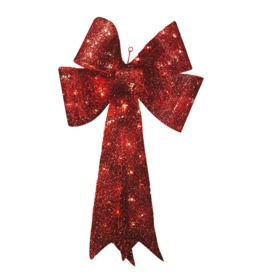 Shop Holiday Living 3 Ft Lighted Bow Outdoor Christmas