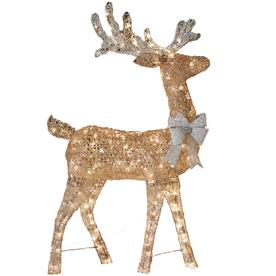 Shop holiday living lighted reindeer outdoor christmas for Christmas deer outdoor decorations
