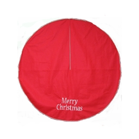 Holiday Living 48&#034; Red Christmas Tree Skirt