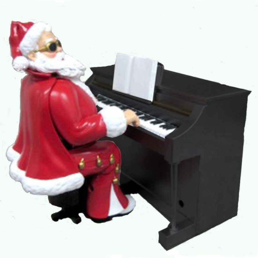 Shop ELVIS Musical Santa Playing Piano Figurine At Lowescom