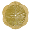 Holiday Living 56-in Gold Polyester with Snowflake Christmas Tree Skirt