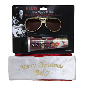 ELVIS Musical Christmas Velvet Plush Santa Hat
