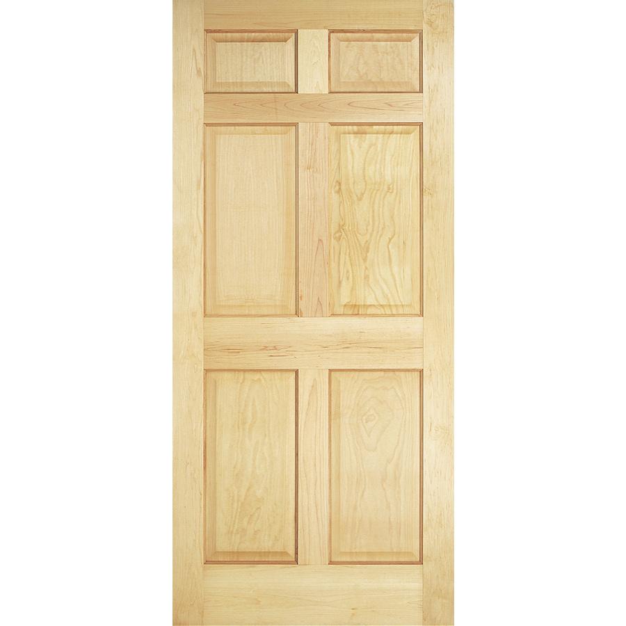 Shop Reliabilt 6 Panel Solid Core No Skin Non Bored Interior Slab Door Common 36 In X 78 In