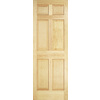 ReliaBilt 32-in x 78-in 6-Panel Pine Solid Core Non-Bored Interior Slab Door