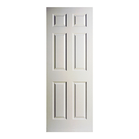 Shop reliabilt 6 panel hollow core textured non bored for 18 six panel interior door