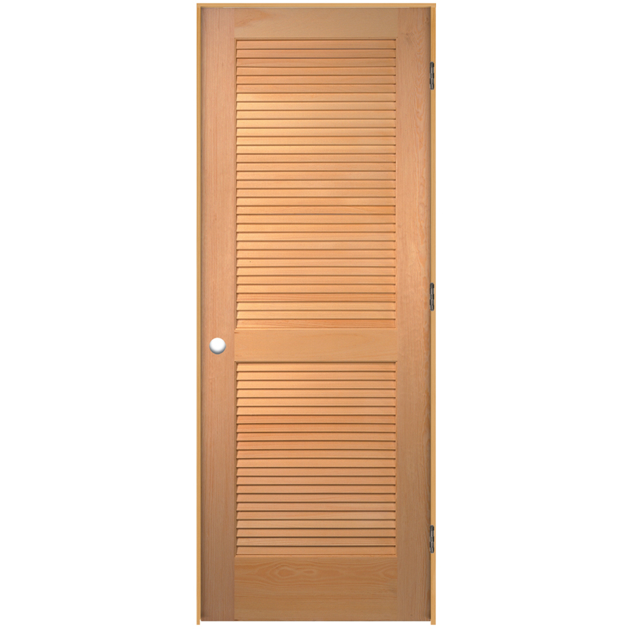 Shop reliabilt louvered solid pine right hand interior for Prehung interior doors