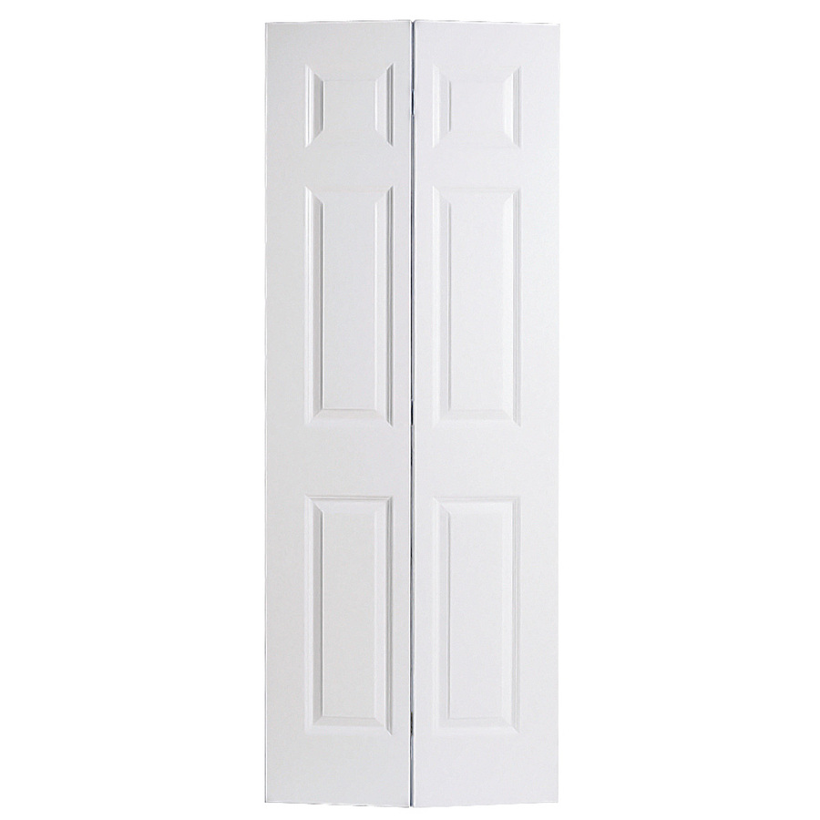 Shop reliabilt 6 panel hollow core smooth molded composite for 27 inch bifold interior doors
