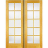 ReliaBilt Prehung Solid Core 10-Lite Clear Pine French Interior Door (Common: 48-in x 80-in; Actual: 49.5-in x 81.5-in)