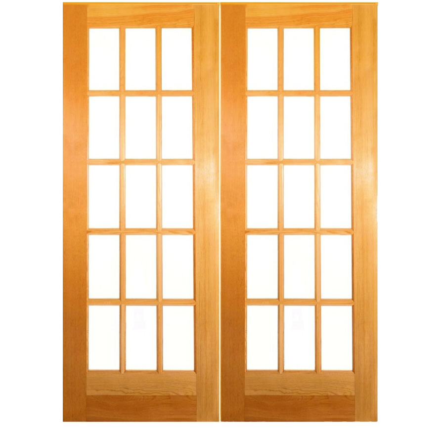 Shop reliabilt 15 lite french solid core no skin pine for 15 lite french door