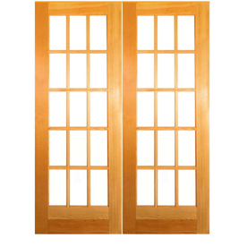 Shop reliabilt prehung solid core 15 lite clear pine - Lowes prehung interior french doors ...