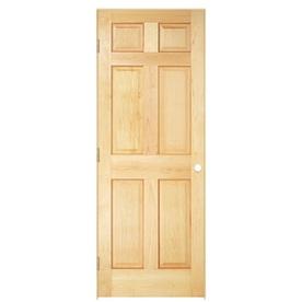 ReliaBilt Prehung Solid Core 6-Panel Pine Interior Door (Common: 36-in x 80-in; Actual: 37.5-in x 81.5-in)