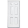 ProSteel 6-Panel Insulating Core Right-Hand Inswing Primed Steel Prehung Entry Door (Common: 36-in x 80-in; Actual: 37.5-in x 81.5-in)