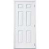 ReliaBilt 36-in x 80-in Fire Resistant 6-Panel Outswing Steel Entry Door