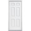 ReliaBilt 6-Panel Insulating Core Left-Hand Inswing Primed Steel Prehung Entry Door (Common: 32-in x 80-in; Actual: 33.5-in x 81.5-in)