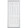 ReliaBilt 36-in x 80-in Fire Resistant 6-Panel Inswing Steel Entry Door