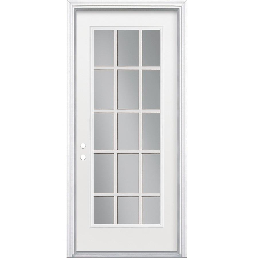 Shop ReliaBilt 15 Lite Prehung Inswing Steel Entry Door
