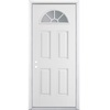 ReliaBilt 32-in x 80-in Fan Lite Inswing Steel Entry Door