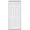 ReliaBilt 32-in x 80-in Fire Resistant 6-Panel Inswing Steel Entry Door