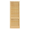 ReliaBilt 24-in x 80-in Louvered Pine Solid Core Non-Bored Interior Slab Door