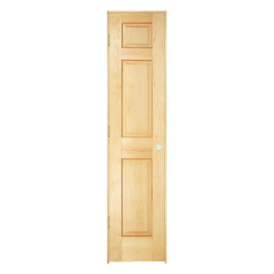 Shop reliabilt 6 panel solid core no skin pine right for 18 x 80 closet door