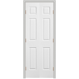 Shop Reliabilt 36 6 Panel Hollow Core Composite Reversible Hand Interior Double Prehung Door