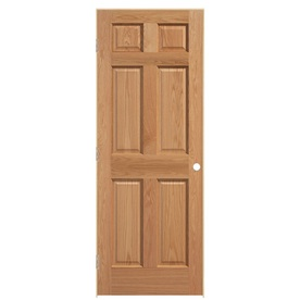 ReliaBilt Prehung Solid Core 6-Panel Oak Interior Door (Common: 30-in x 80-in; Actual: 31.5-in x 81.5-in)