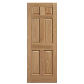 Shop Reliabilt Solid Core 6 Panel Oak Slab Interior Door Common 30 In X 80 In Actual 30 In X