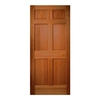 ReliaBilt 32-in x 80-in Hem-Fir Wood Entry Door