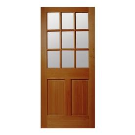 Shop reliabilt 2 panel solid wood core 9 lite hem fir for 9 lite wood exterior door