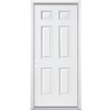 ReliaBilt 30-in x 80-in Fire Resistant 6-Panel Inswing Steel Entry Door