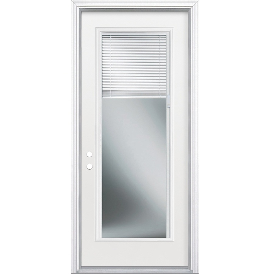 Shop Reliabilt Blinds Between The Glass Full Lite Prehung Inswing Steel Entry Door Common 32