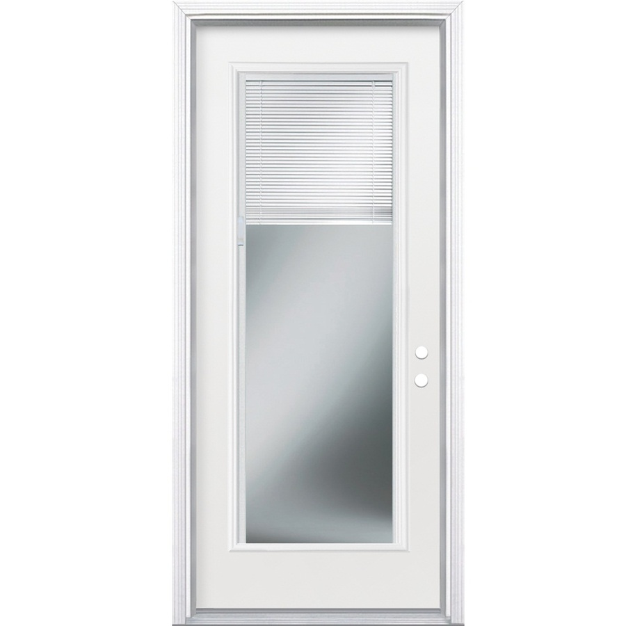 Shop ReliaBilt 36u0026quot; MIni-Blind Full Lite Steel Entry Door Unit Left Hand at Lowes.com