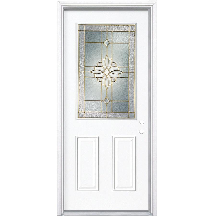 36 X 80 Exterior Door Shop Reliabilt 15 Lite Prehung Outswing Steel Entry Door Common 36 In X