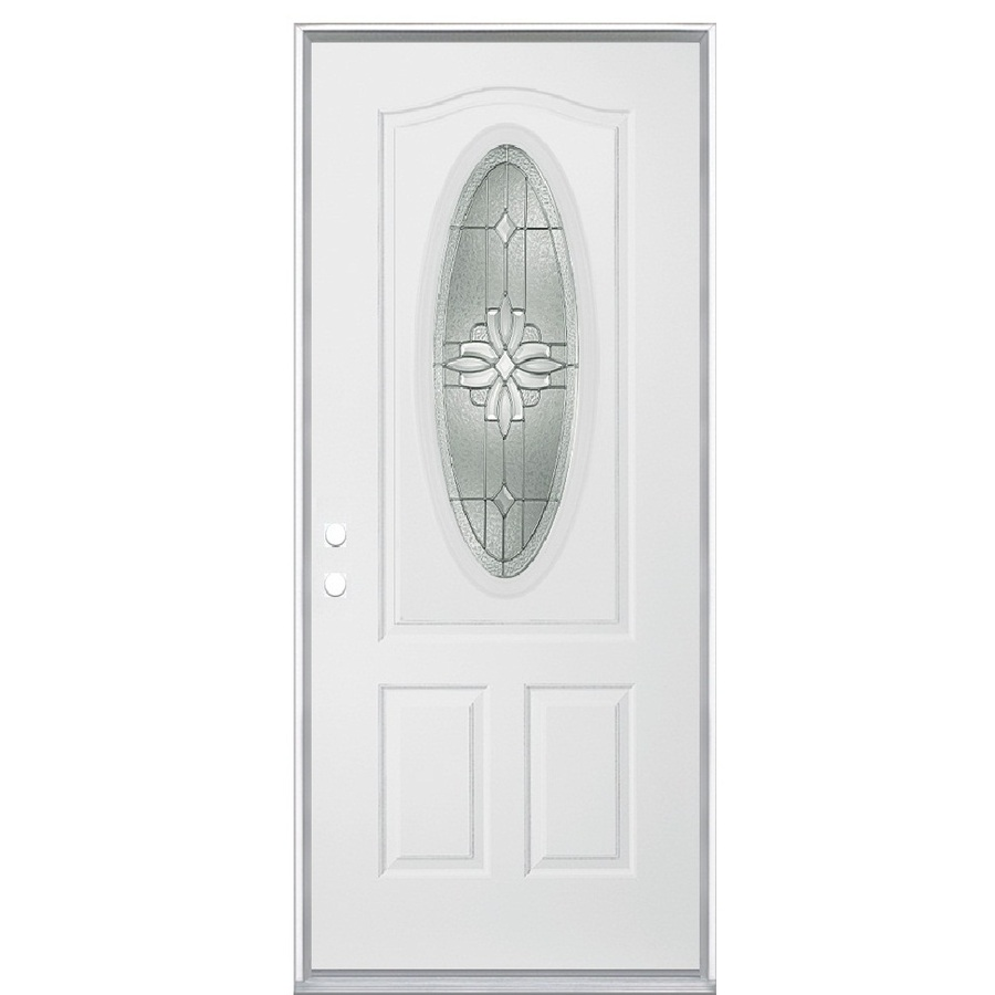 shop reliabilt oval lite prehung inswing steel entry door