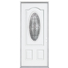 ReliaBilt 36-in x 80-in 3/4-Lite Inswing Steel Entry Door