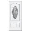 ReliaBilt 36-in x 80-in 3/4-Lite Outswing Steel Entry Door