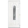 ReliaBilt 36-in x 80-in Center Arch Lite Prehung Outswing Steel Entry Door