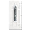 ReliaBilt Hampton 8-Panel Insulating Core Center Arch Lite Left-Hand Outswing Primed Steel Prehung Entry Door (Common: 36-in x 80-in; Actual: 37.5-in x 80.375-in)