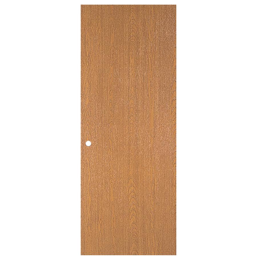 Shop Reliabilt Flush Hollow Core Bored Interior Slab Door Common 24 In X 80 In Actual 24 In