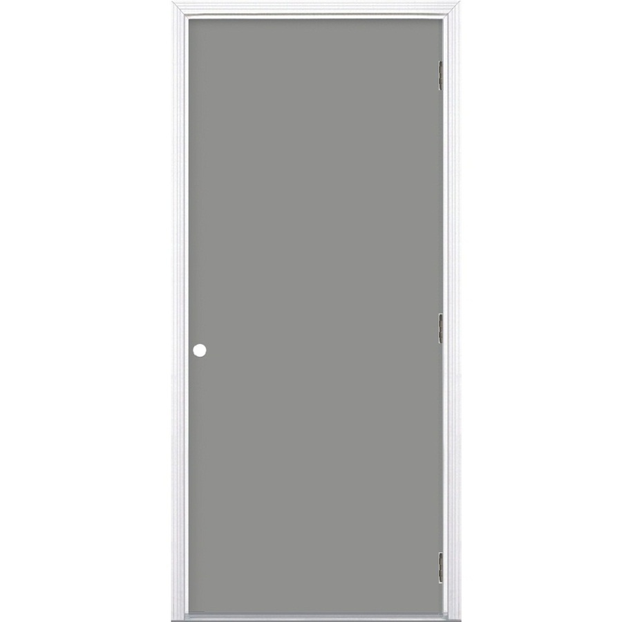 Shop Prosteel Flush Prehung Outswing Steel Entry Door Common 36 In X 80 In Actual 37 5 In X