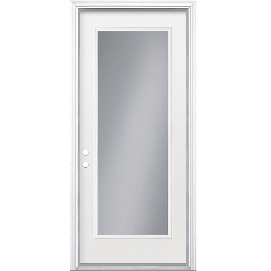 Shop reliabilt full lite inswing steel entry door at for Steel entry doors