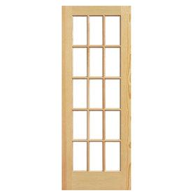 ReliaBilt Solid Core 15-Lite Clear Glass Pine Slab Interior Door (Common: 32-in x 80-in; Actual: 32-in x 80-in)