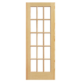 ReliaBilt Solid Core 15-Lite Clear Pine Slab Interior Door (Common: 36-in x 80-in; Actual: 36-in x 80-in)
