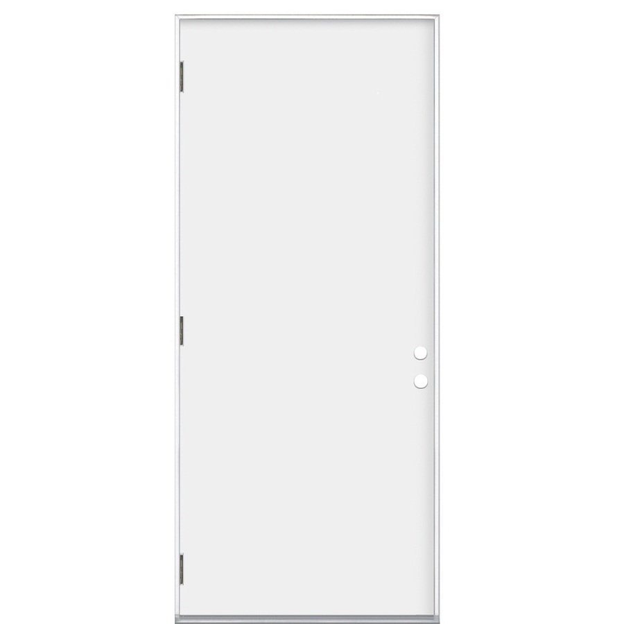 Shop Reliabilt Flush Prehung Outswing Steel Entry Door Common 30 In X 80 In Actual 31 5 In X