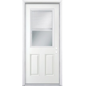 Shop reliabilt 2 panel blinds between the glass half lite for Back door with window that opens